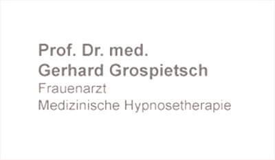 Prof. Dr. med. Gerhard Grospietsch - Frauenarzt Medizinische Hypnosetherapie